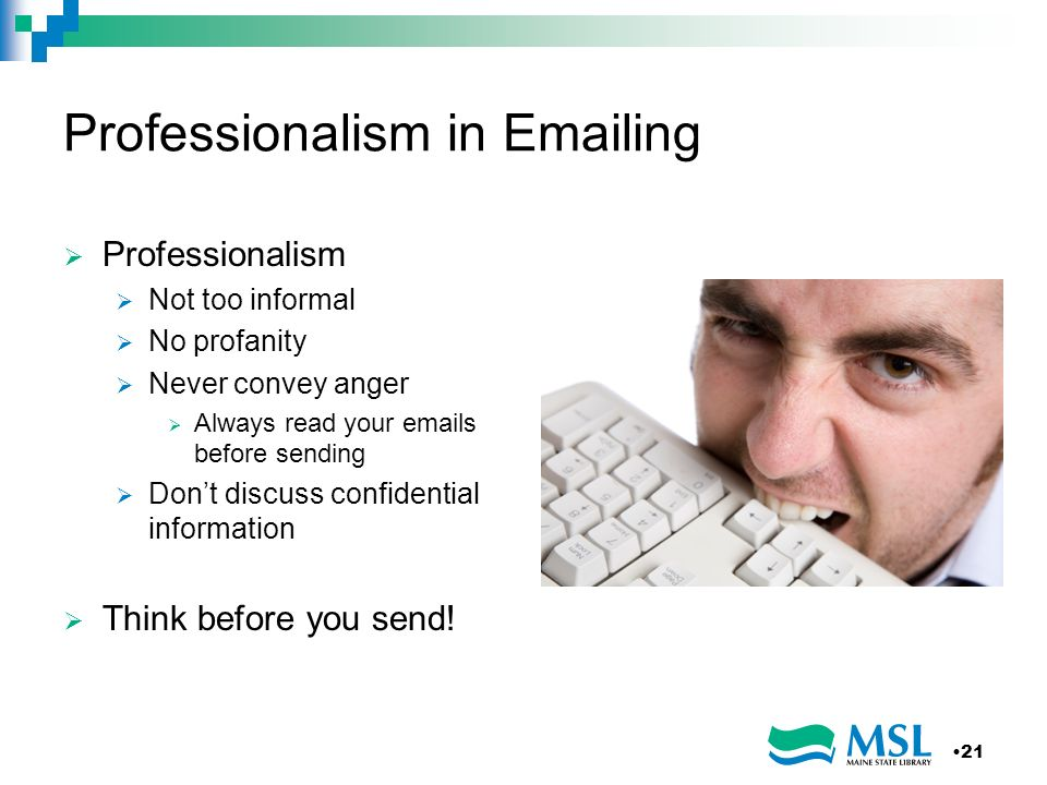 Professionalism in Emailing