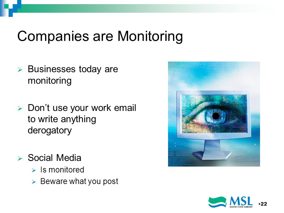 Companies are Monitoring