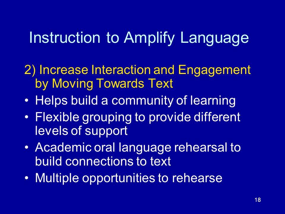 Instruction to Amplify Language