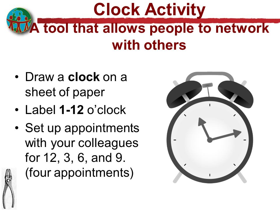 Clock Activity A tool that allows people to network with others