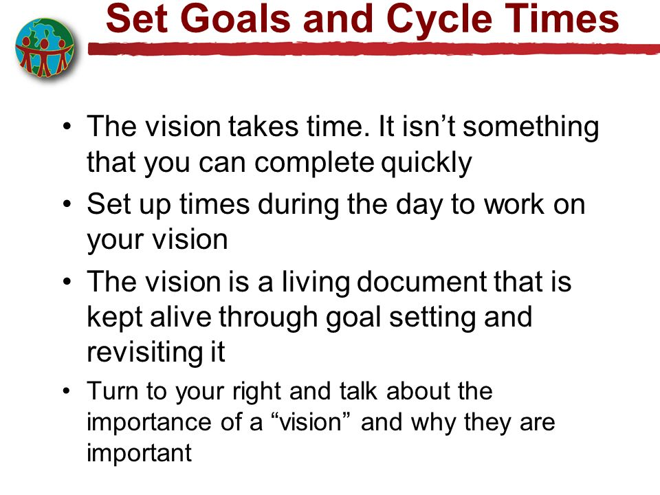 Set Goals and Cycle Times