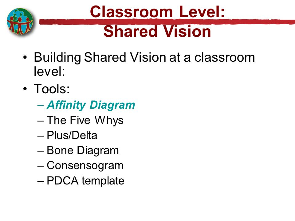 Classroom Level: Shared Vision