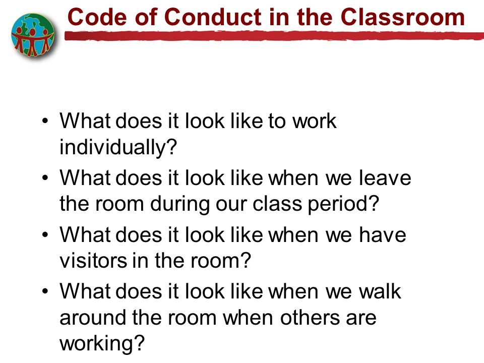 Code of Conduct in the Classroom