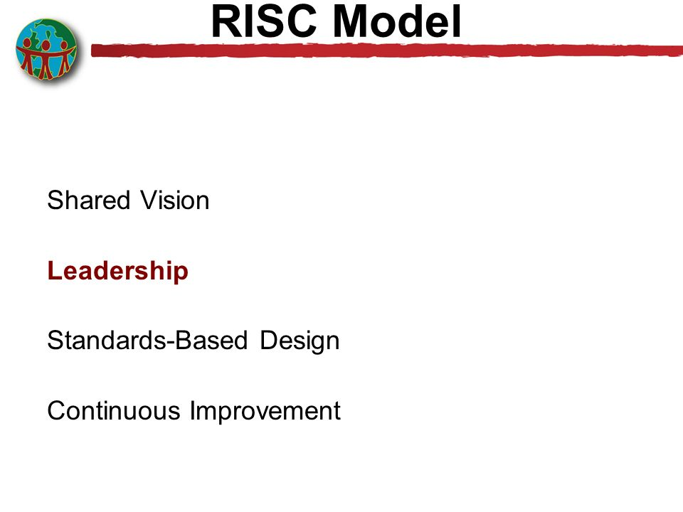RISC Model Shared Vision Leadership Standards-Based Design