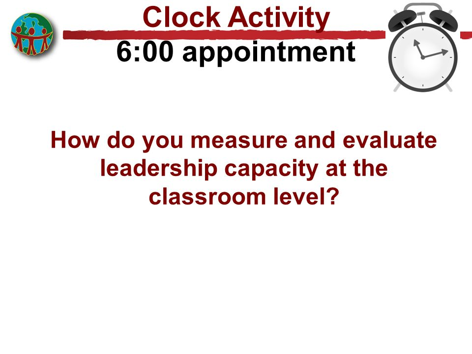 Clock Activity 6:00 appointment
