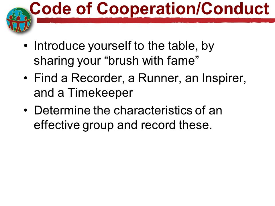 Code of Cooperation/Conduct