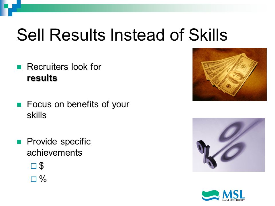Sell Results Instead of Skills