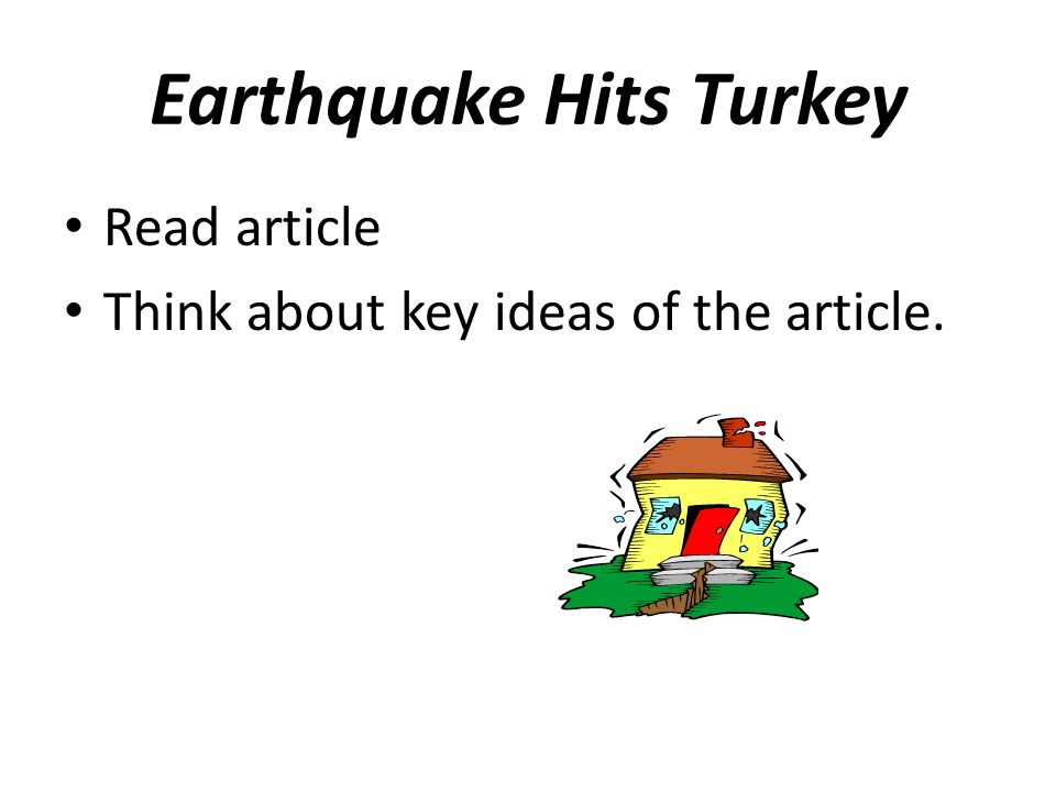 Earthquake Hits Turkey