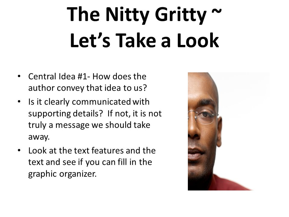 The Nitty Gritty ~ Let's Take a Look