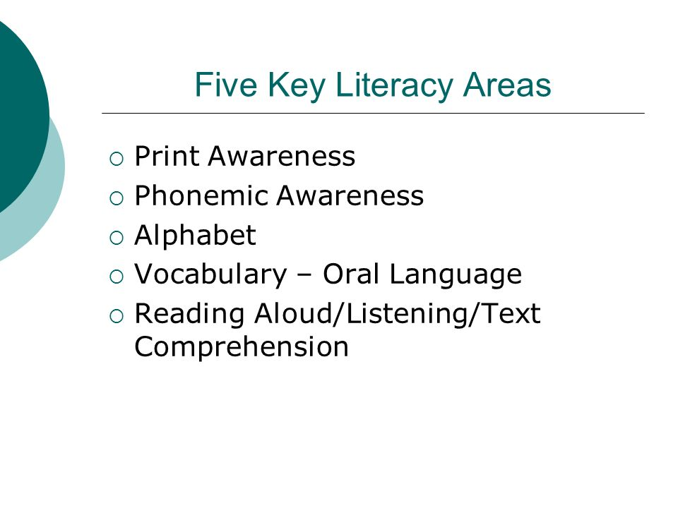 Five Key Literacy Areas