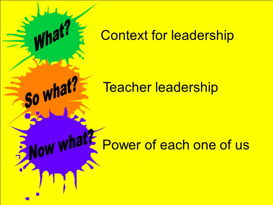 Context for leadership