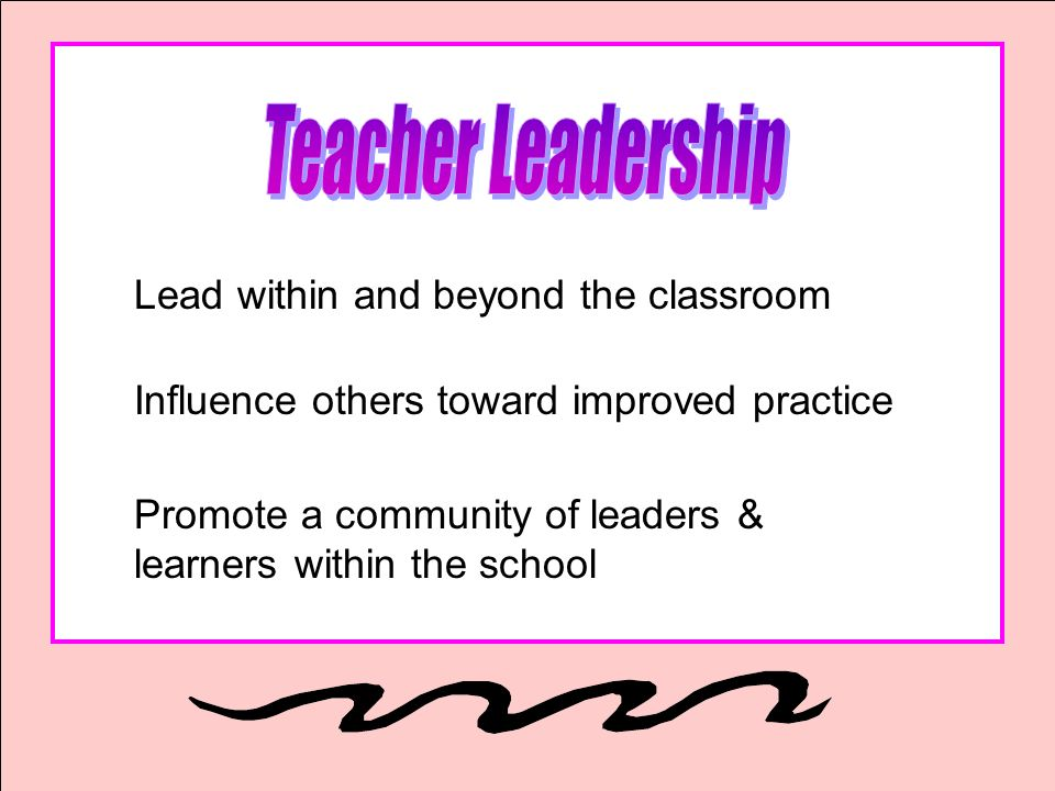 Teacher Leadership Lead within and beyond the classroom