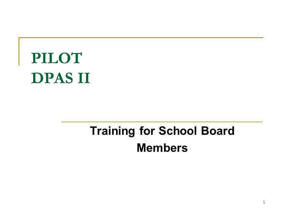 Training for School Board Members