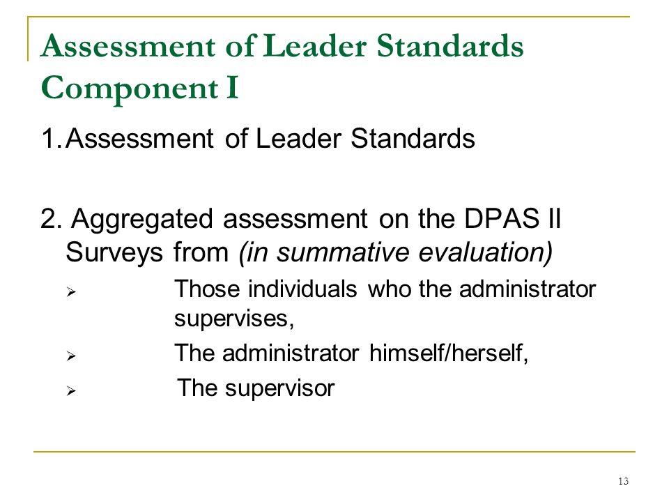 Assessment of Leader Standards Component I
