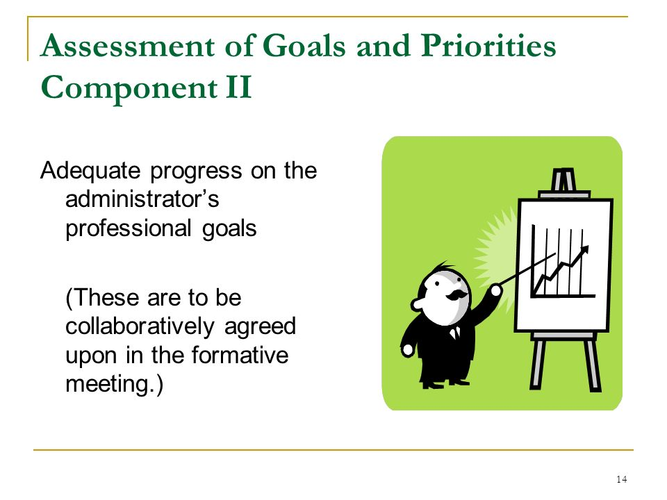 Assessment of Goals and Priorities Component II