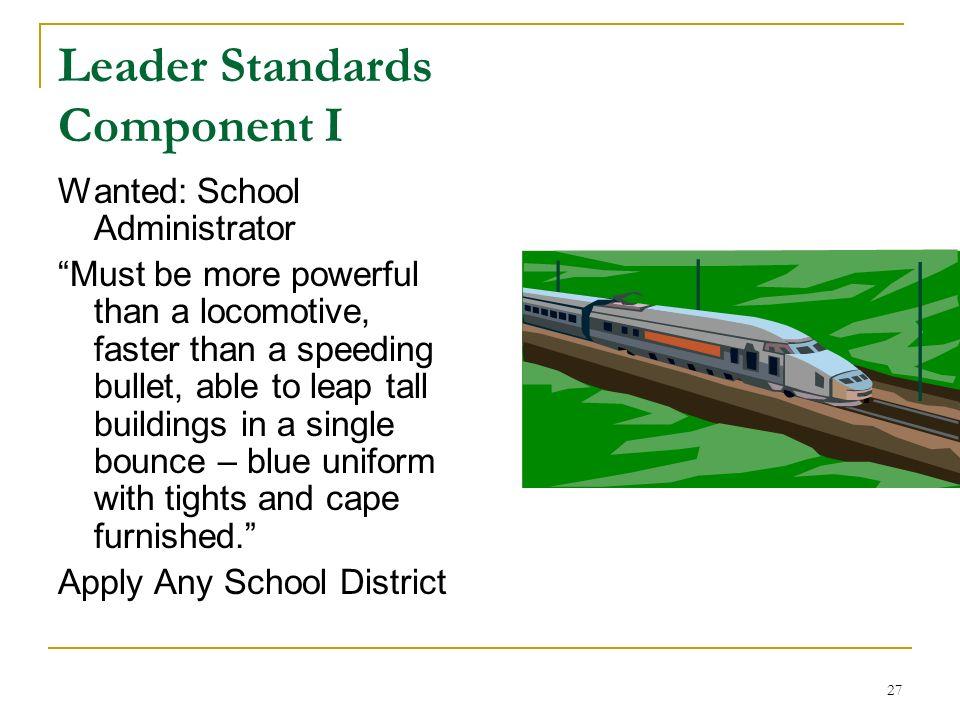 Leader Standards Component I