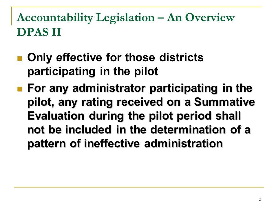 Accountability Legislation – An Overview DPAS II