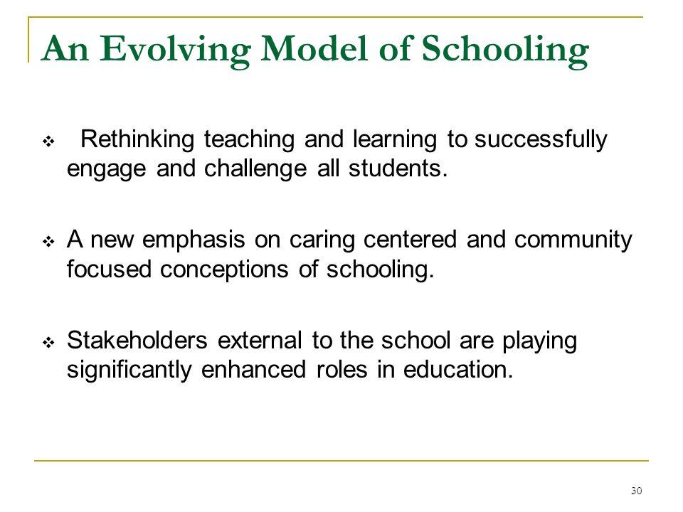 An Evolving Model of Schooling