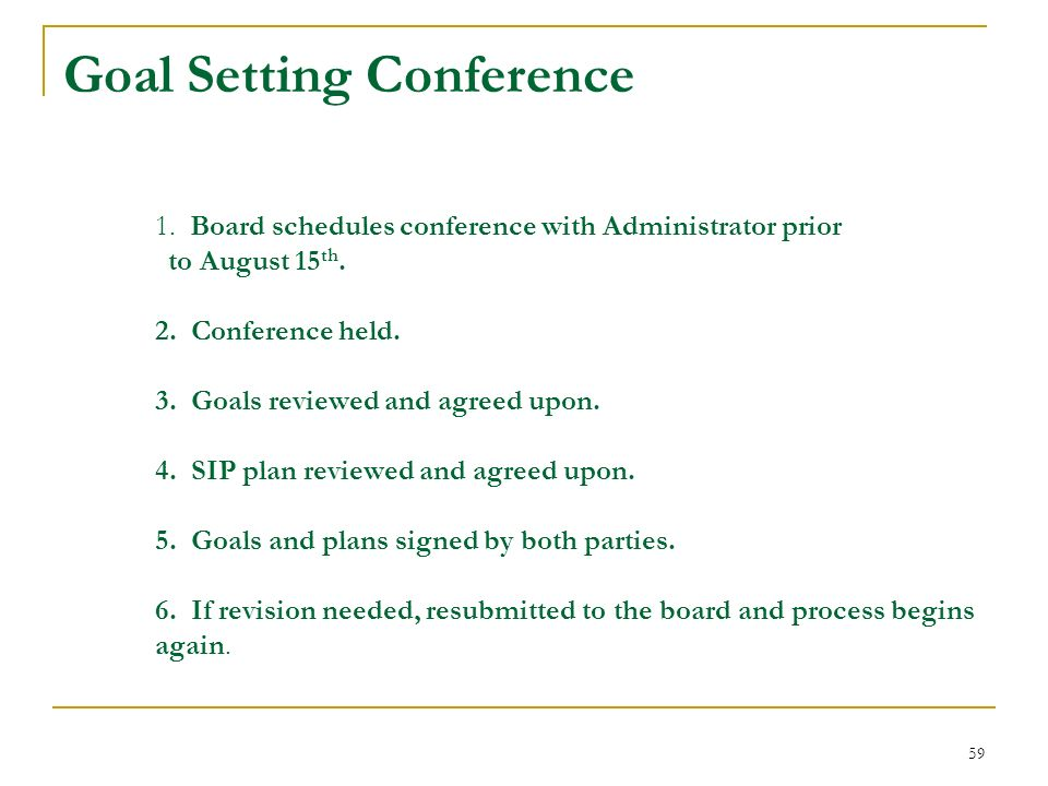 Goal Setting Conference 1
