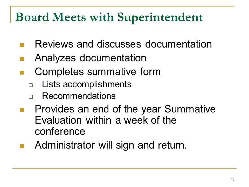 Board Meets with Superintendent