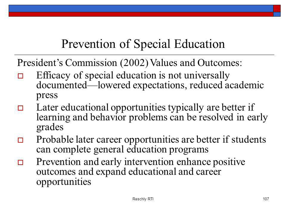 Prevention of Special Education