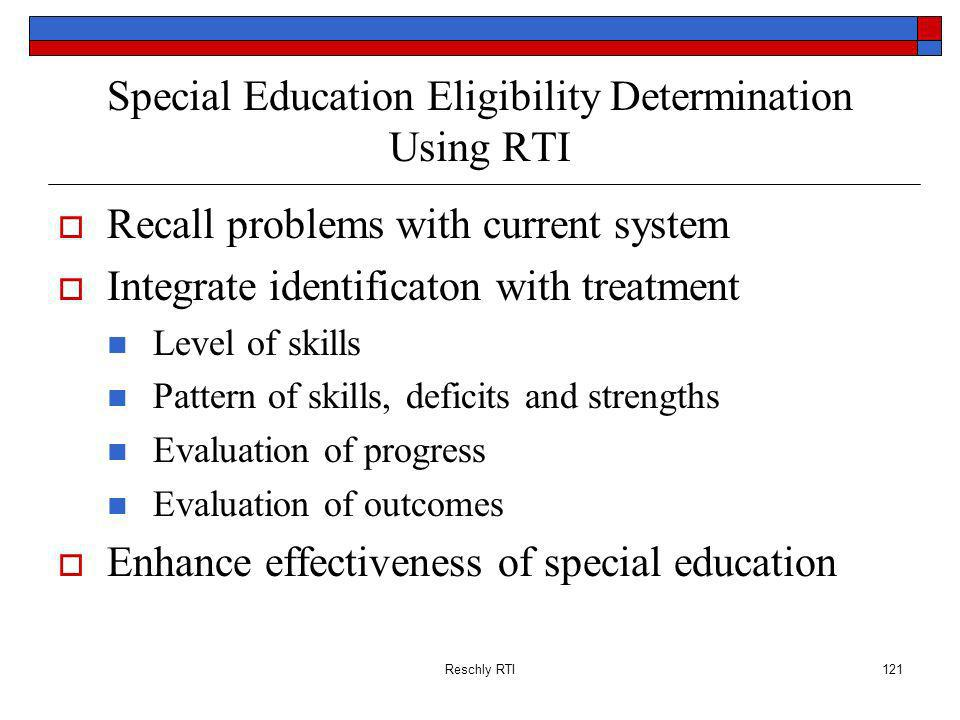 Special Education Eligibility Determination Using RTI