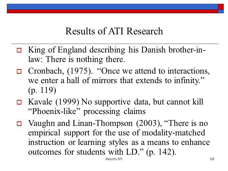 Results of ATI Research