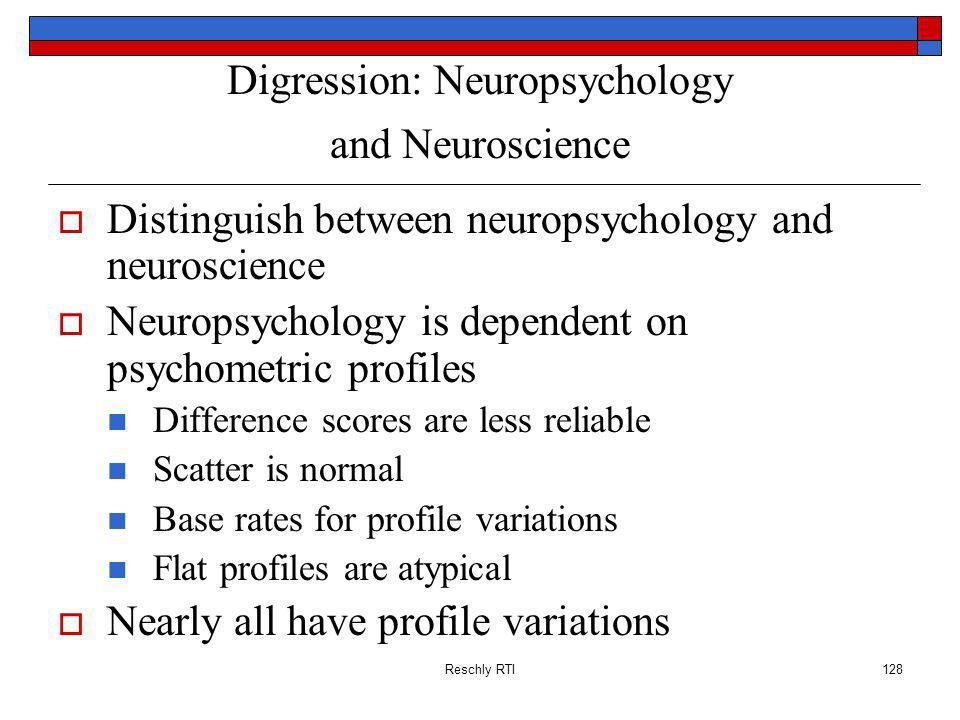 Digression: Neuropsychology and Neuroscience