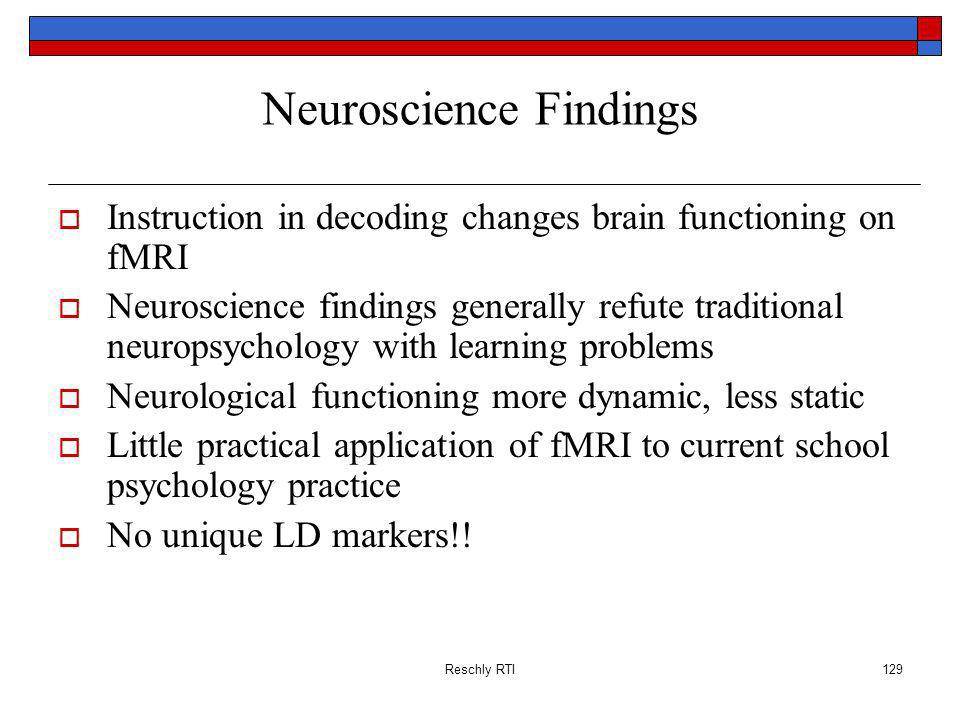 Neuroscience Findings