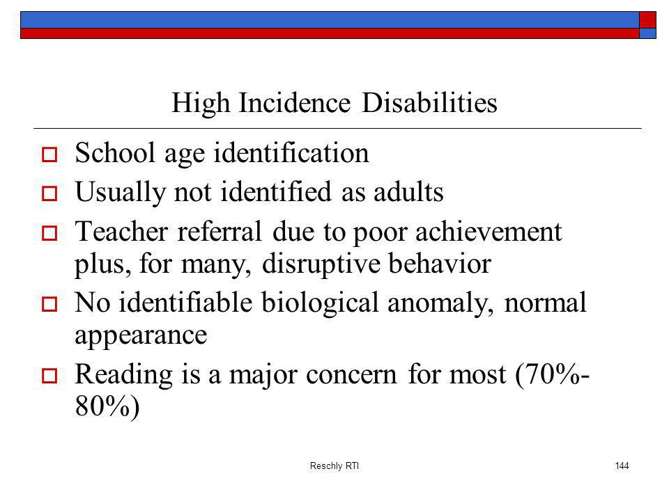High Incidence Disabilities