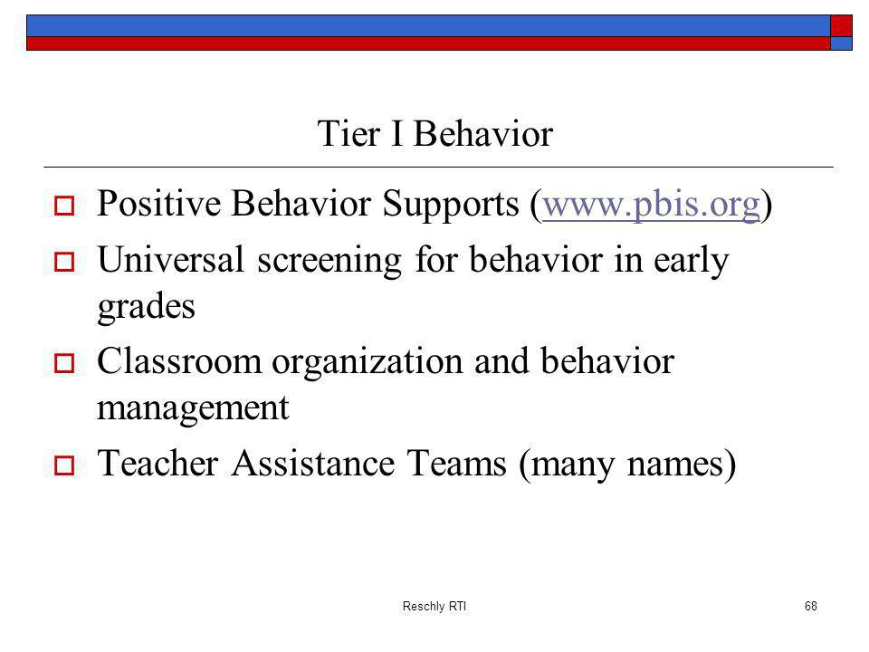 Positive Behavior Supports (www.pbis.org)