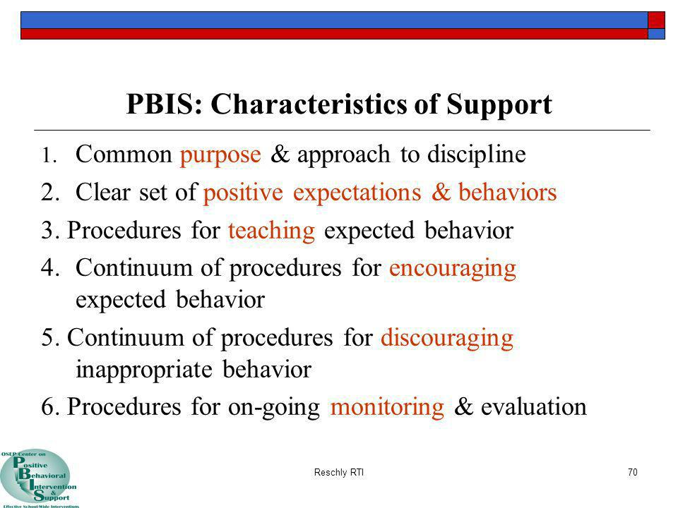 PBIS: Characteristics of Support