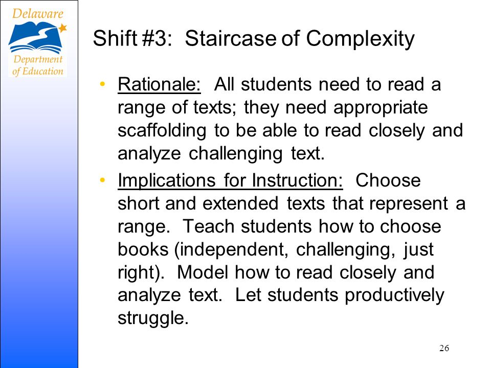 Shift #3: Staircase of Complexity