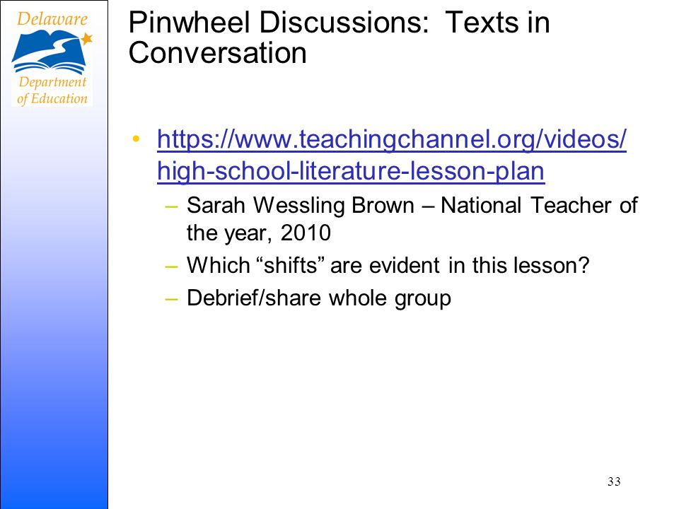 Pinwheel Discussions: Texts in Conversation