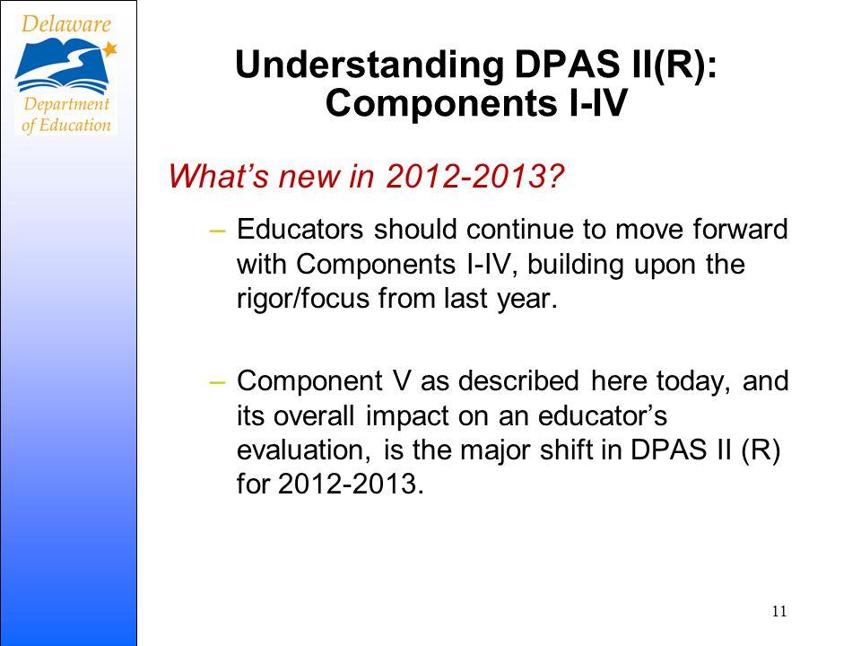 Understanding DPAS II(R): Components I-IV