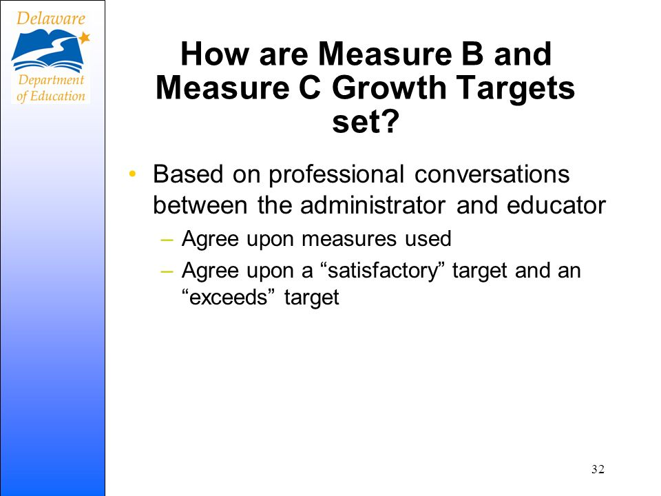How are Measure B and Measure C Growth Targets set