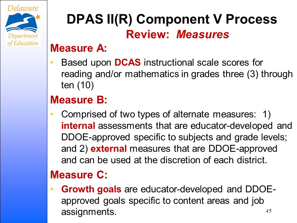 DPAS II(R) Component V Process Review: Measures