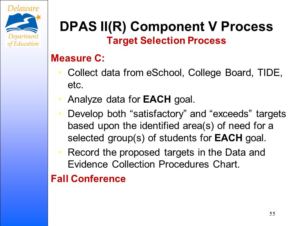 DPAS II(R) Component V Process Target Selection Process