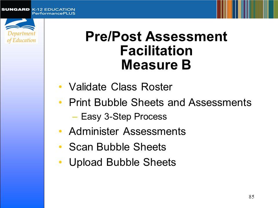 Pre/Post Assessment Facilitation Measure B