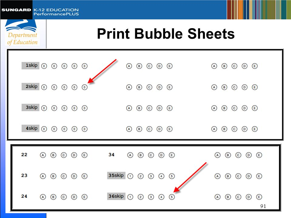 Print Bubble Sheets