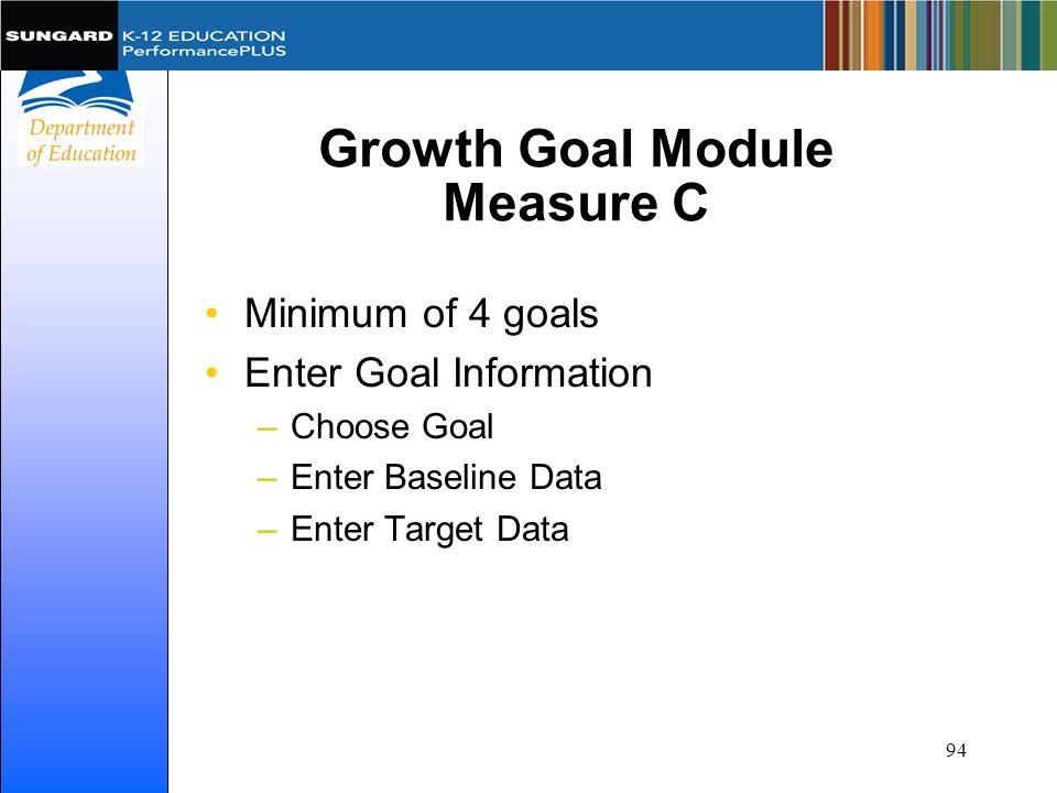 Growth Goal Module Measure C