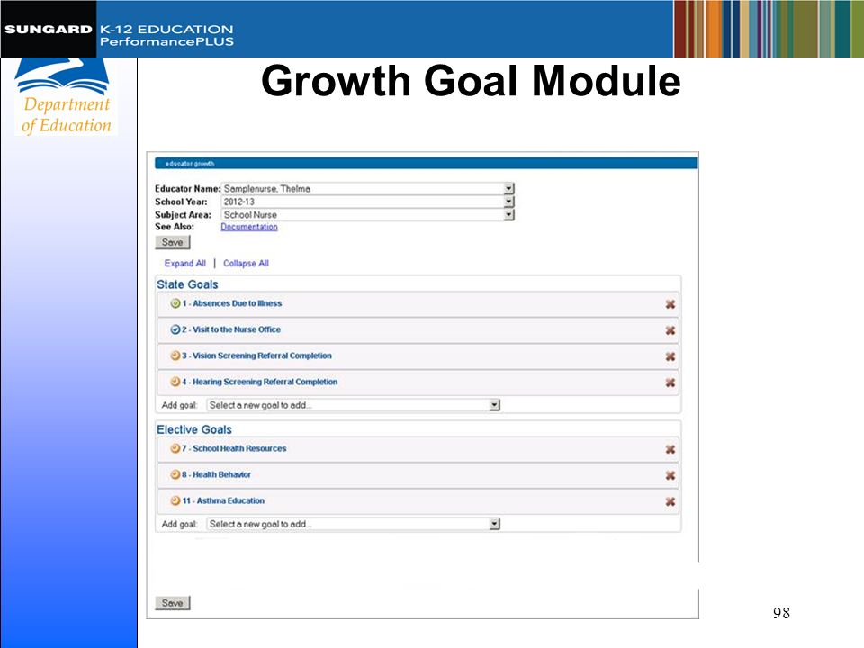 Growth Goal Module