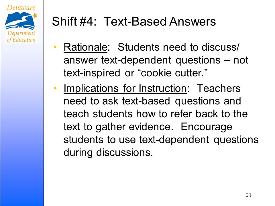 Shift #4: Text-Based Answers