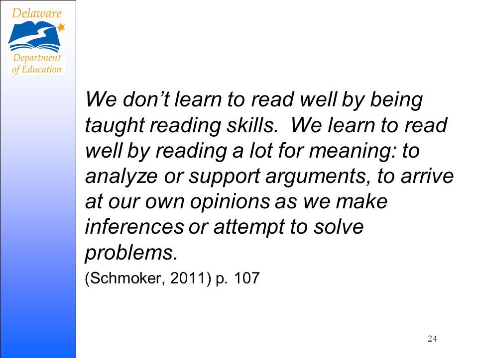 We don't learn to read well by being taught reading skills