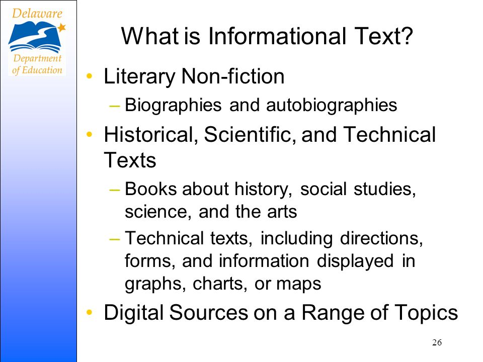 What is Informational Text