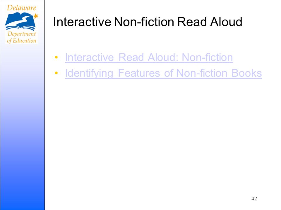 Interactive Non-fiction Read Aloud