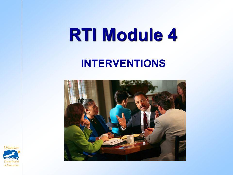 RTI Module 4 INTERVENTIONS