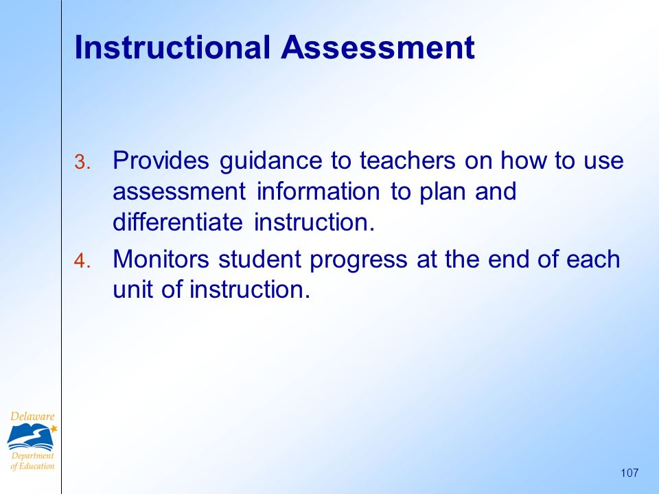 Instructional Assessment