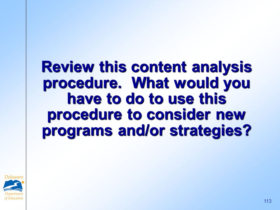 Review this content analysis procedure