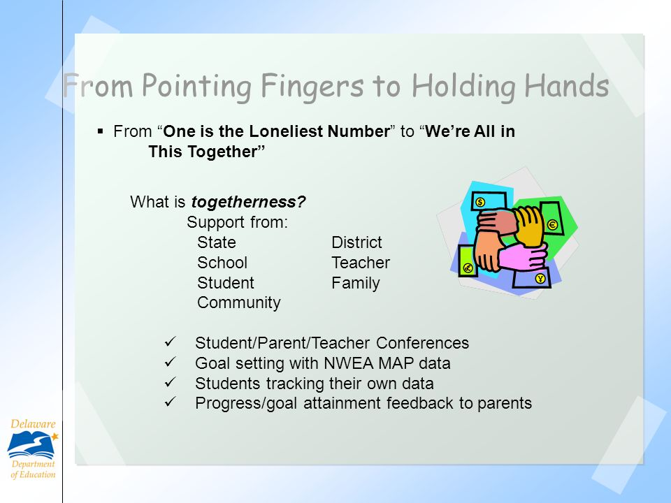 From Pointing Fingers to Holding Hands